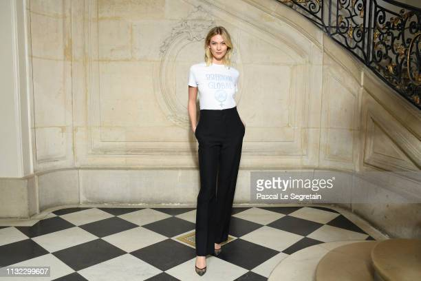 Karlie Kloss attends the Christian Dior show as part of the Paris Fashion Week Womenswear Fall/Winter 2019/2020 on February 26 2019 in Paris France