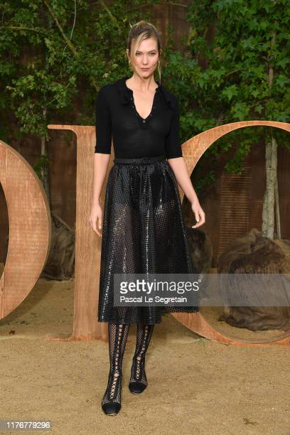 Karlie Kloss attends the Christian Dior Womenswear Spring/Summer 2020 show as part of Paris Fashion Week on September 24, 2019 in Paris, France.