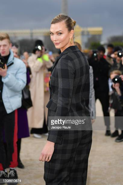 Karlie Kloss attends the Dior show as part of the Paris Fashion Week Womenswear Fall/Winter 2020/2021 on February 25, 2020 in Paris, France.