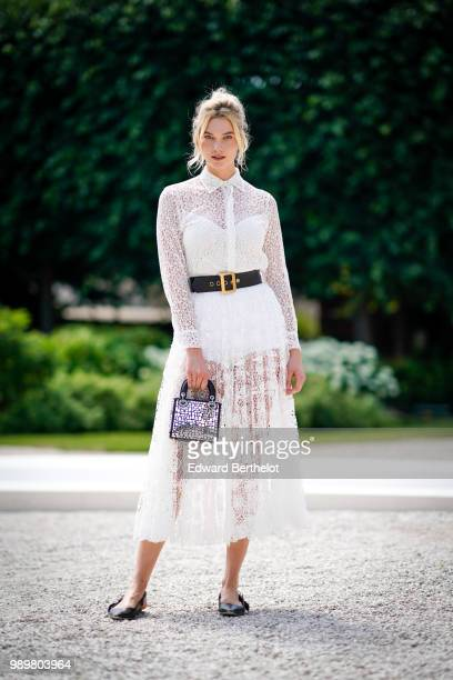 Karlie Kloss attends the Dior show during Paris Fashion Week Haute Couture Fall Winter 2018/2019 on July 2 2018 in Paris France