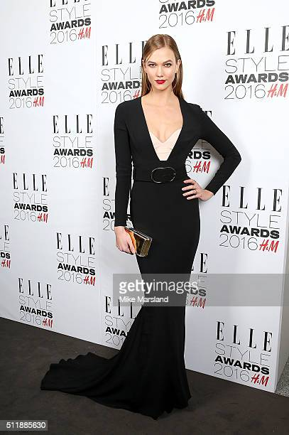 Karlie Kloss attends The Elle Style Awards 2016 on February 23 2016 in London England