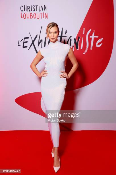 Karlie Kloss attends the Exhibition Opening of L'Exibition[niste] by Christian Louboutin as part of Paris Fashion Week Womenswear Fall/Winter...