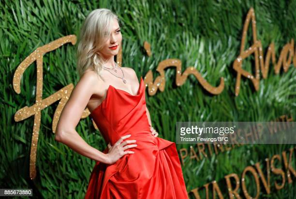 Karlie Kloss attends The Fashion Awards 2017 in partnership with Swarovski at Royal Albert Hall on December 4 2017 in London England