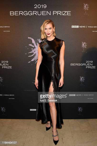 Karlie Kloss attends the Fourth Annual Berggruen Prize Gala celebrating 2019 Laureate Supreme Court Justice Ruth Bader Ginsburg in New York City on...