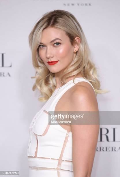 Karlie Kloss attends the 'Good Girl' fragrance launch by Carolina Herrera at 1 Horse Guards Avenue on January 25 2018 in London England