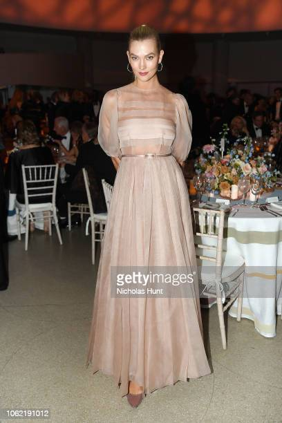 Karlie Kloss attends the Guggenheim International Gala Dinner made possible by Dior at Solomon R Guggenheim Museum on November 15 2018 in New York...