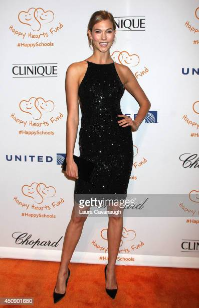 Karlie Kloss attends the Happy Hearts Fund 10 year anniversary tribute of the Indian Ocean tsunami tribute at Cipriani 42nd Street on June 19 2014 in...