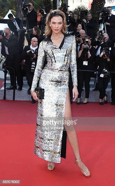 Karlie Kloss attends the 'Julieta' Premiere at the annual 69th Cannes Film Festival at Palais des Festivals on May 17 2016 in Cannes France