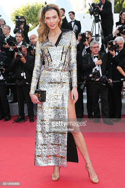 Karlie Kloss attends the Julieta premiere during the 69th annual Cannes Film Festival at the Palais des Festivals on May 17 2016 in Cannes France