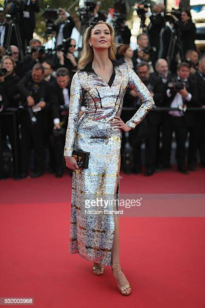 Karlie Kloss attends the 'Julieta' premiere during the 69th annual Cannes Film Festival at the Palais des Festivals on May 17 2016 in Cannes France