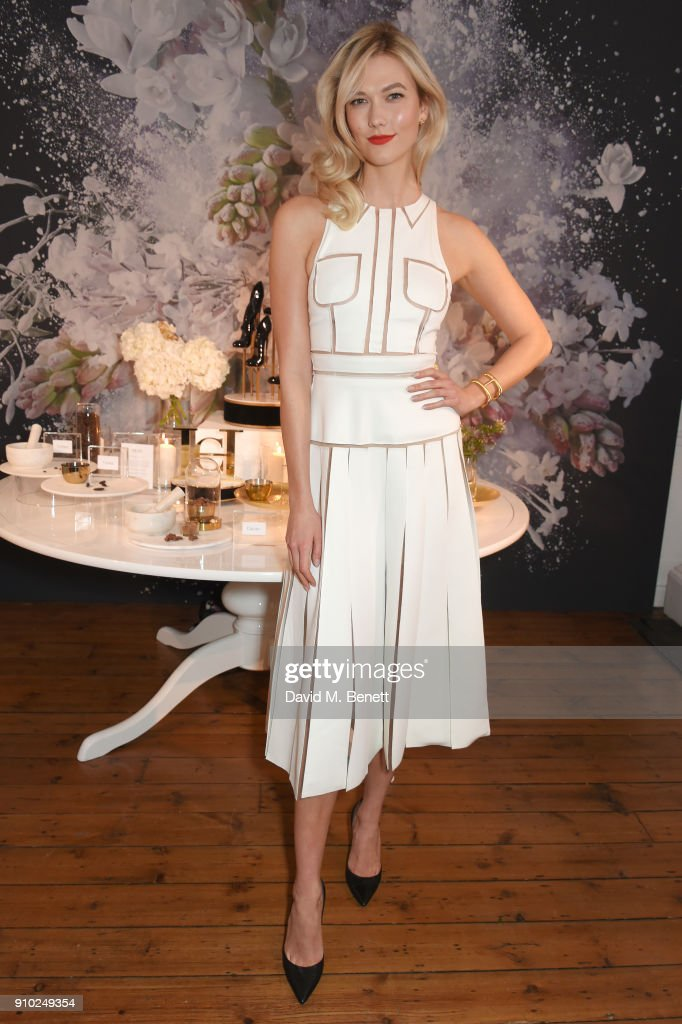 Karlie Kloss attends the launch of Carolina Herrera's new fragrance 'Good Girl' with campaign face Karlie Kloss at One Horse Guards on January 25, 2018 in London, England.