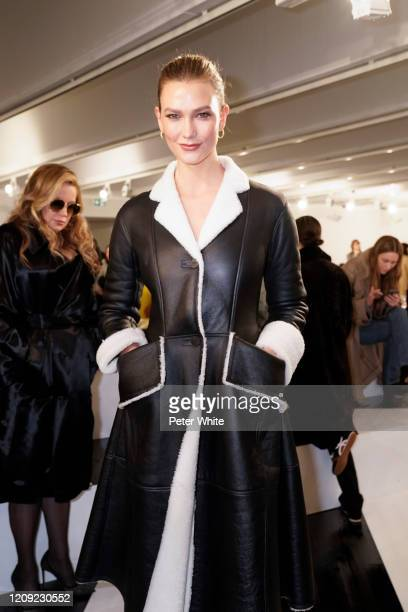 Karlie Kloss attends the Loewe show as part of the Paris Fashion Week Womenswear Fall/Winter 2020/2021 on February 28, 2020 in Paris, France.