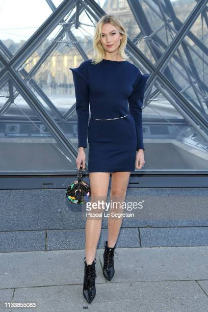 Karlie Kloss attends the Louis Vuitton show as part of the Paris Fashion Week Womenswear Fall/Winter 2019/2020 on March 05 2019 in Paris France