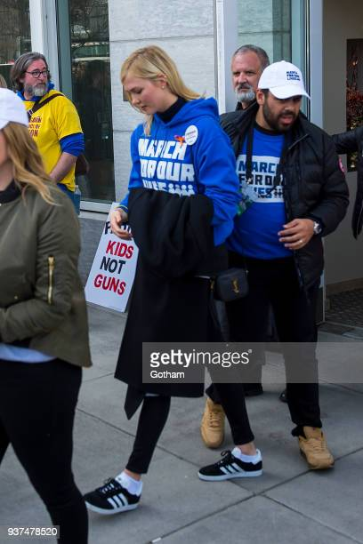 Karlie Kloss attends the March For Our Lives on March 24 2018 in Washington City