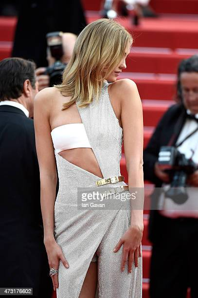 Karlie Kloss attends the opening ceremony and premiere of 'La Tete Haute' during the 68th annual Cannes Film Festival on May 13 2015 in Cannes France