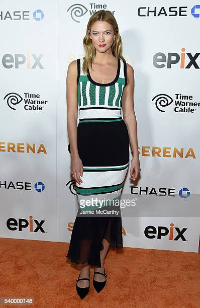 Karlie Kloss attends the Premiere Of EPIX Original Documentary Serena at SVA Theatre on June 13 2016 in New York City