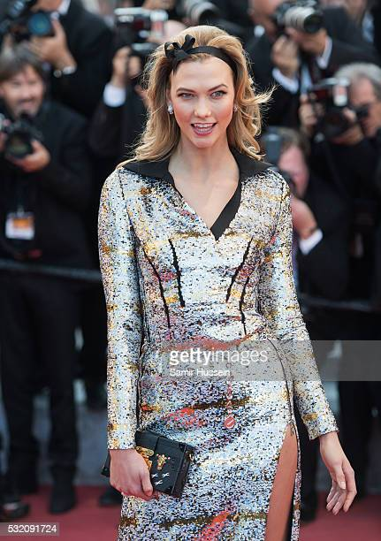 Karlie Kloss attends the screening of Julieta at the annual 69th Cannes Film Festival at Palais des Festivals on May 17 2016 in Cannes France