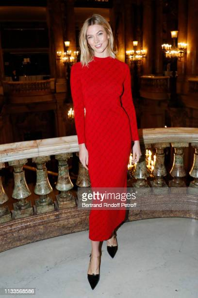 Karlie Kloss attends the Stella McCartney show as part of the Paris Fashion Week Womenswear Fall/Winter 2019/2020 on March 04 2019 in Paris France