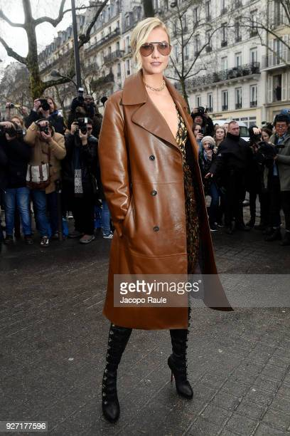 Karlie Kloss attends the Valentino show as part of the Paris Fashion Week Womenswear Fall/Winter 2018/2019 on March 4 2018 in Paris France