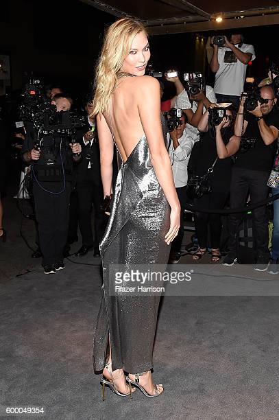 Karlie Kloss attends Tom Ford fashion show during New York Fashion Week September 2016 at 99E 52d St. On September 7, 2016 in New York City.