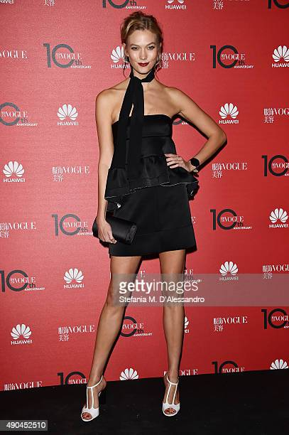 Karlie Kloss attends Vogue China 10th Anniversary at Palazzo Reale on September 28 2015 in Milan Italy