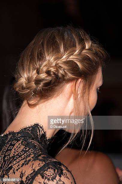 Karlie Kloss hair detail attends the Pencils of Promise Gala 2015 at Cipriani Wall Street on October 21 2015 in New York City