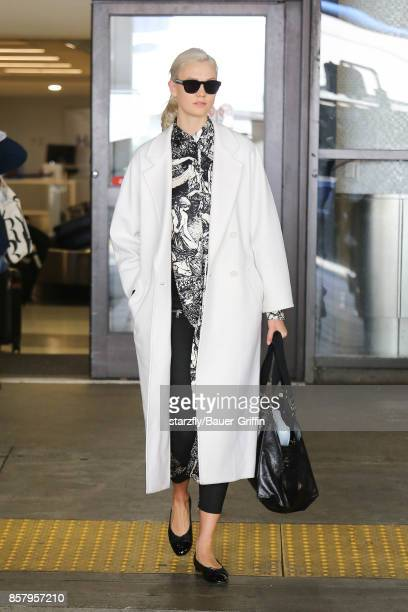 Karlie Kloss is seen at LAX on October 05 2017 in Los Angeles California