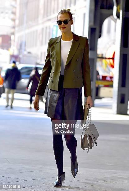 Karlie Kloss is seen in Chelsea on January 19 2017 in New York City