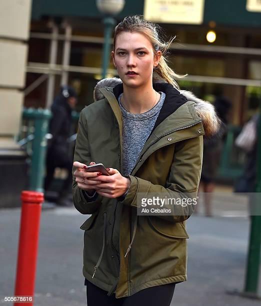 Karlie Kloss is seen in Soho on January 19 2016 in New York City