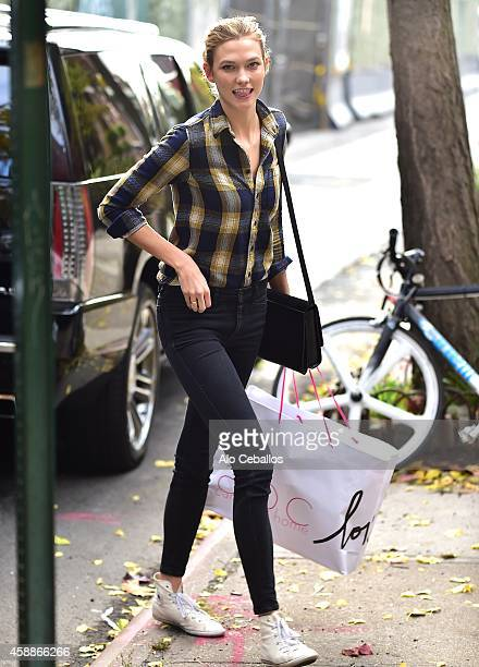 Karlie Kloss is seen in the West Village on November 12 2014 in New York City
