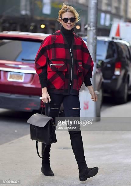 Karlie Kloss is seen in Tribeca on December 15 2016 in New York City