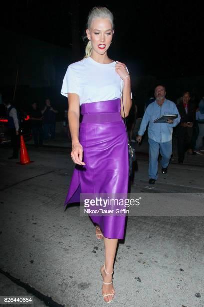 Karlie Kloss is seen on August 03 2017 in Los Angeles California