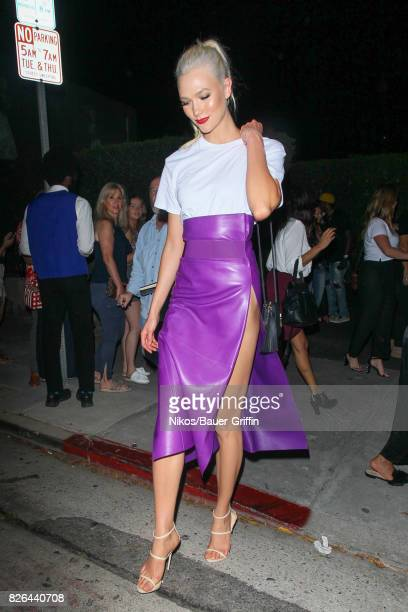 Karlie Kloss is seen on August 03 2017 in Los Angeles California