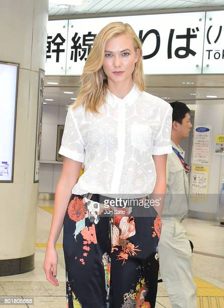 Karlie Kloss is seen on June 27 2017 in Tokyo Japan