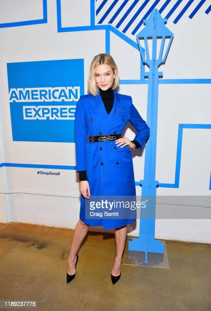 Karlie Kloss joins American Express and Small Business Owners in a Toast to 10 Years of Small Business Saturday on November 21, 2019 in New York City.