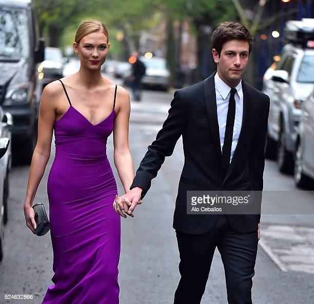 Karlie Kloss Joshua Kushner are seen in the West Village on April 26 2016 in New York City