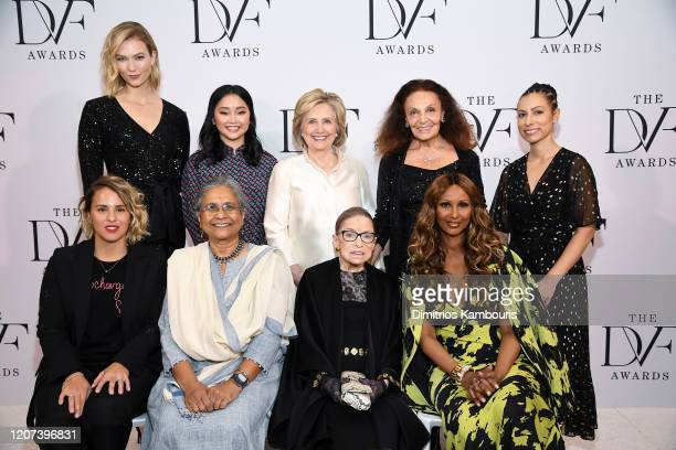 Karlie Kloss, Lana Condor, Former U.S. Secretary of State Hillary Clinton, Diane von Furstenberg, Ria Tabacco Mar, Saskia Nino de Rivera, Priti...