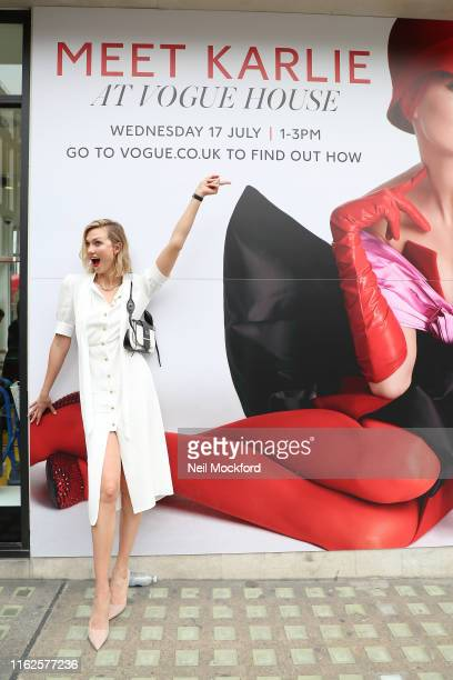 Karlie Kloss leaving Vogue House after the Vogue August Issue Live Signing on July 17 2019 in London England