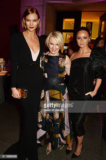 Karlie Kloss Lorraine Candy and Stella McCartney attend The Elle Style Awards 2016 after party on February 23 2016 in London England