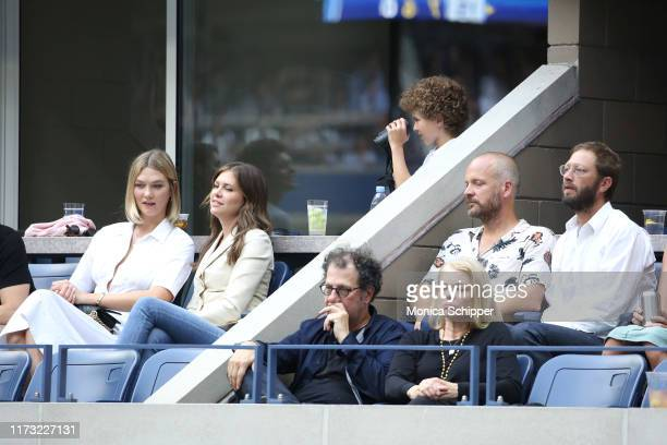 Karlie Kloss, Peter Sarsgaard and Ebon Moss-Bachrach attend as Grey Goose toasts to the 2019 US Open at Arthur Ashe Stadium on September 08, 2019 in...