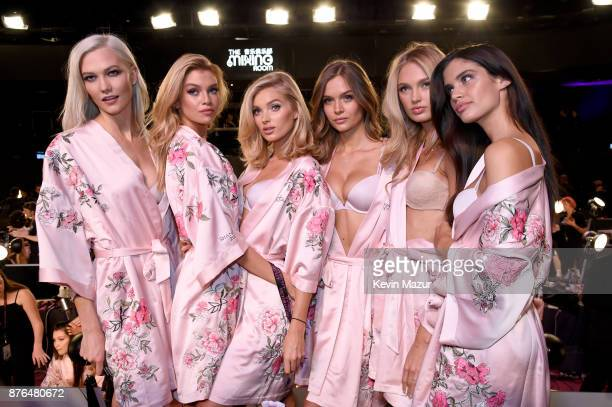 Karlie Kloss Romee Strijd Elsa Hosk Josephine Skriver and Sara Sampaio during 2017 Victoria's Secret Fashion Show In Shanghai at MercedesBenz Arena...