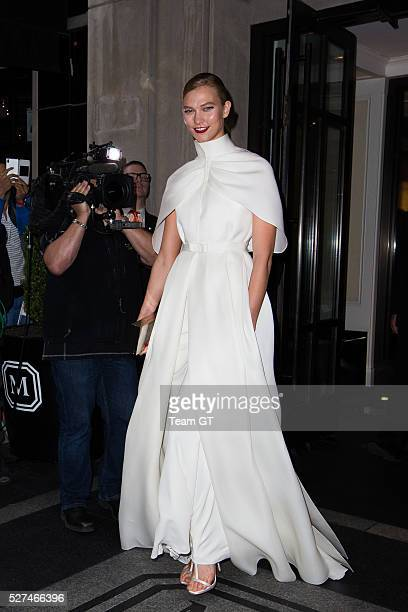 Karlie Kloss seen leaving her hotel on May 2, 2016 in New York City.