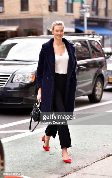 Karlie Kloss seen on the streets of Manhattan on November 28, 2018 in New York City.