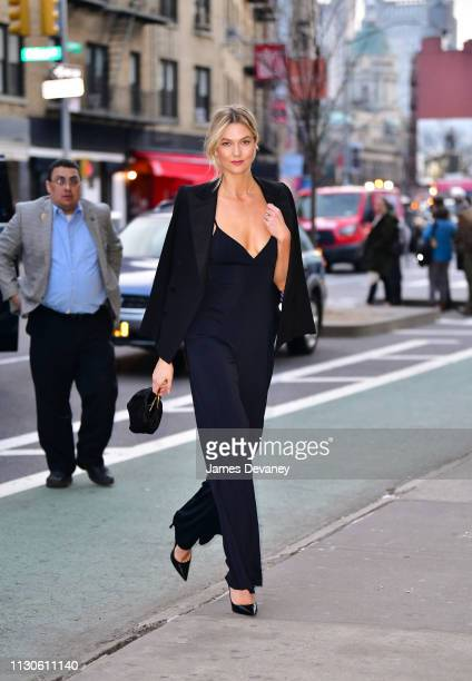 Karlie Kloss seen on the streets of Nolita on March 14 2019 in New York City