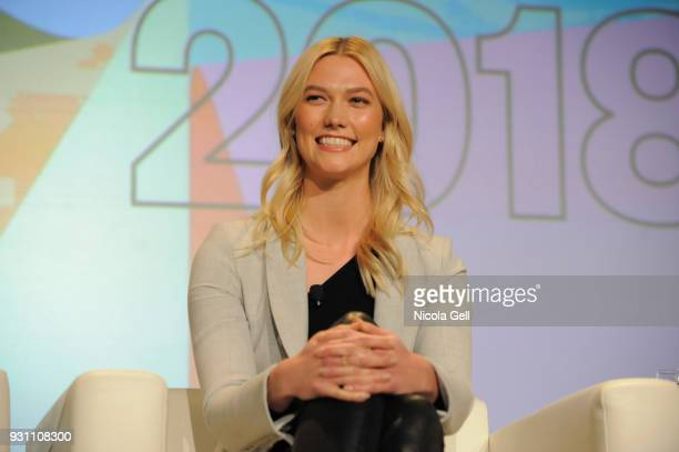 Karlie Kloss speaks onstage at Create the World You Want to Live In during SXSW at Austin Convention Center on March 12 2018 in Austin Texas