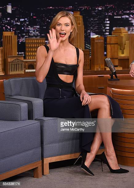 Karlie Kloss visits The Tonight Show Starring Jimmy Fallonat NBC Studios on May 26 2016 in New York City
