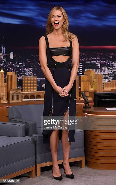 Karlie Kloss visits 'The Tonight Show Starring Jimmy Fallon''at NBC Studios on May 26 2016 in New York City