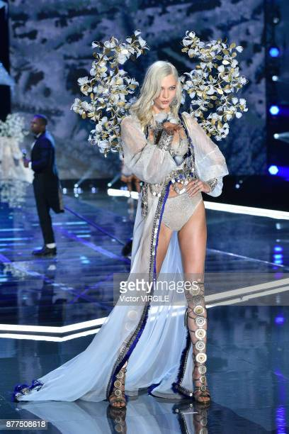 Karlie Kloss walks the runway at the 2017 Victoria's Secret Fashion Show In Shanghai Show at MercedesBenz Arena on November 20 2017 in Shanghai China