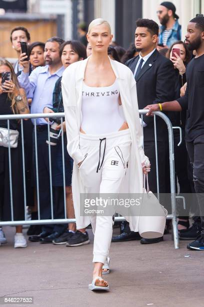 Karlie Kloss walks the runway during the Baja East fashion show during New York Fashion Week in SoHo on September 12 2017 in New York City