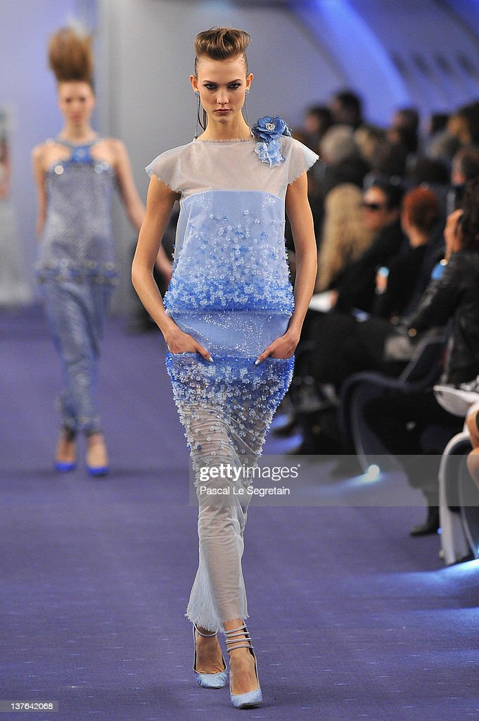 Karlie Kloss walks the runway during the Chanel Haute-Couture Spring / Summer 2012 Show as part of Paris Fashion Week at Grand Palais on January 24, 2012 in Paris, France.